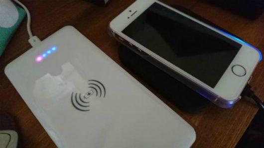 ワイヤレスモバイルバッテリー qi ワイヤレス充電
