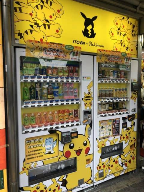 渋谷 ポケモン自販機